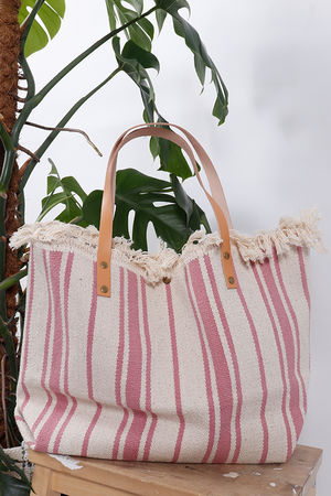 The Gili Stripe Bag Pink