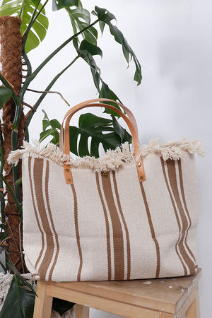 The Gili Stripe Bag Tan