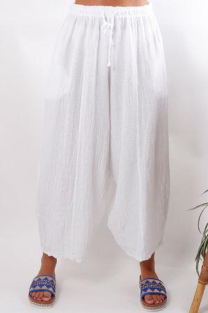 The Gobi Baggy Crop White