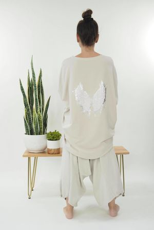 The Harper Hi Lo Butterfly Top Stone