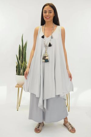 The High Low Kite Tunic Dove