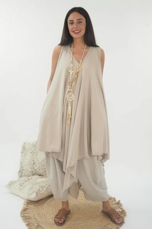 The High Low Kite Tunic Stone