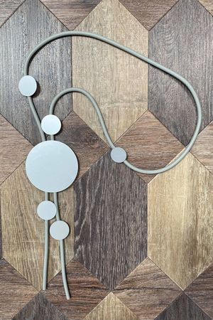 The Hirst Abstract Necklace Silver