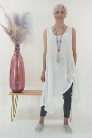 The Hitchcock Dress White