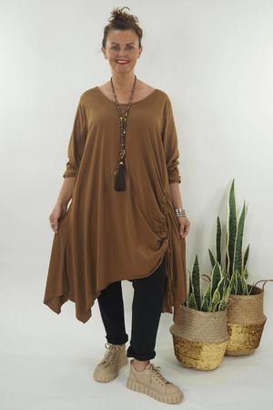 The Hitchcock Long Sleeve Dress Tobacco