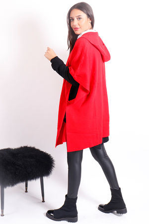 The Hooded Cape Red