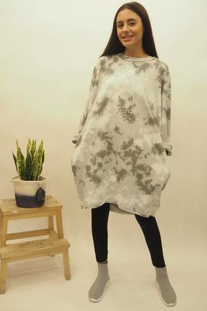 The Inky Cocoon Dress Dove
