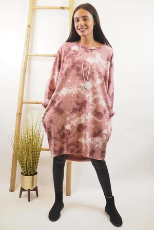 The Inky Cocoon Dress Indian Pink