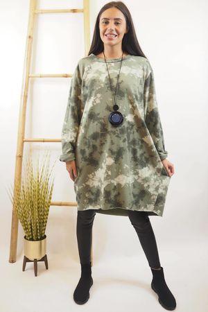 The Inky Cocoon Dress Khaki