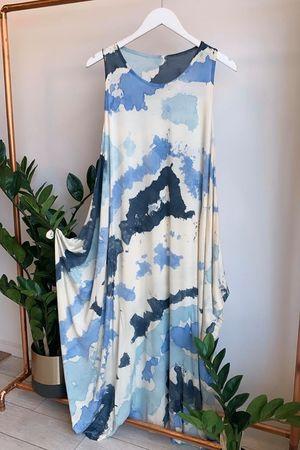The Inky Parachute Dress Blues