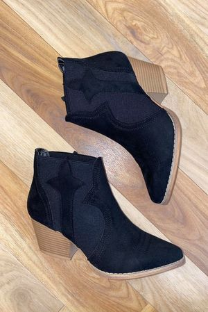 The Isabel Western Boot Black