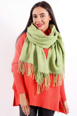The Jagger Tassle Scarf Green