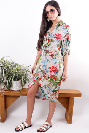 The Jamaica Shirt Dress Nude
