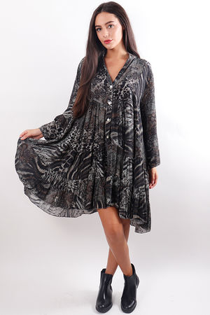 The Jungle Dress Grey