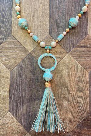 The Kenya Necklace Soft Turquoise