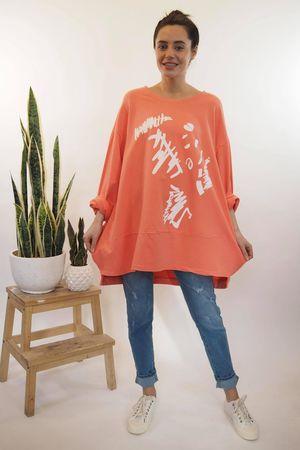 The La Boulle Graffiti Sweatshirt Apricot Zing