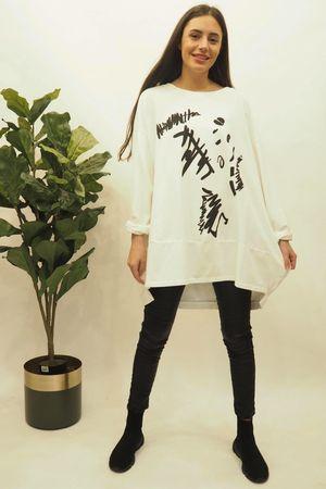 The La Boulle Graffiti Sweatshirt Warm White