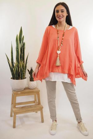 The La Laya Top Coral