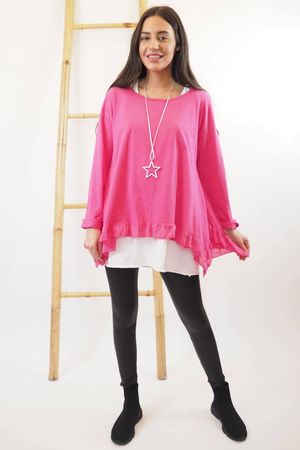 The La Laya Top Hot Pink