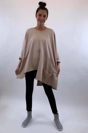 The La Poche Oversized V Sweatshirt Blush