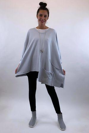 The La Poche Oversized V Sweatshirt Dove