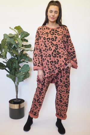The Leopard Co-Ord Terracotta Rose