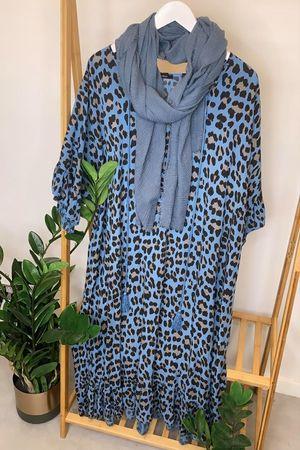 The Leopard Gypsy Dress Denim