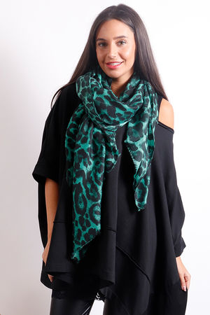 The Leopard Scarf Emerald