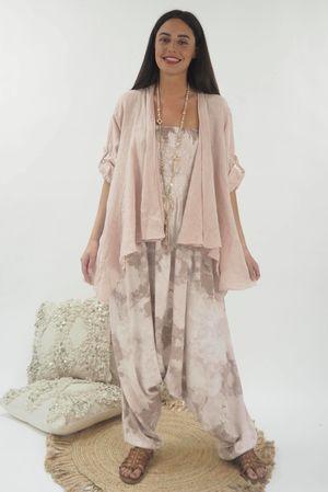 The Linen Drape Jacket Blush