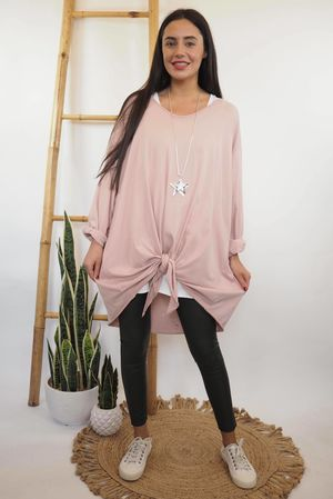 The Longline Knot Front Top Blush