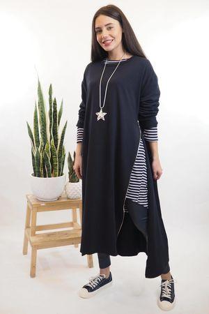 The Longline Zippi Dress Navy