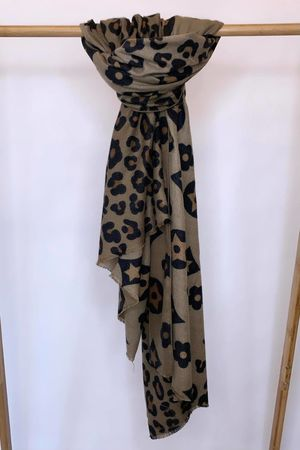 The Louis Leopard Scarf