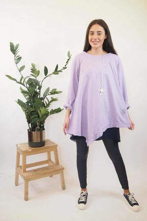 The Lux Asymmetric Sweat Lilac