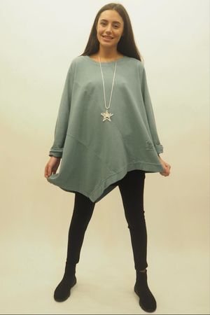The Lux Asymmetric Sweat Sage