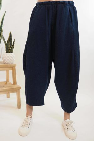 The Lux Cocoon Relaxed Pant Indigo