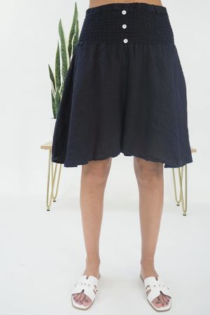 The Lux Linen Shulottes Navy