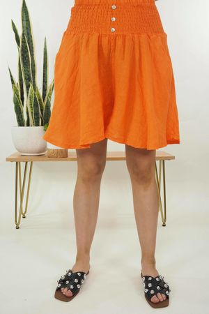 The Lux Linen Shulottes Tangerine