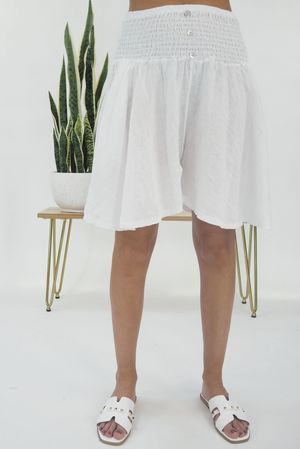 The Lux Linen Shulottes White
