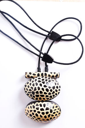 The Maka Necklace Mustard Cheetah