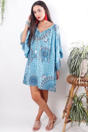The Mandala Tunic Turquoise