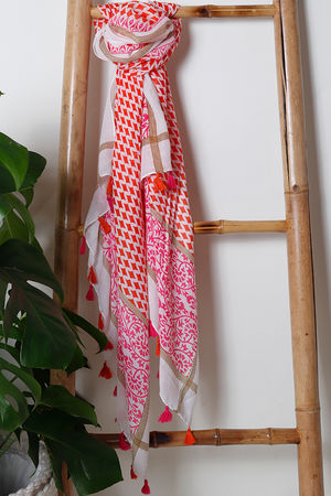 The Marrakesh Tassel Scarf Colour Pop