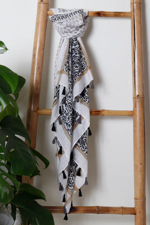 The Marrakesh Tassel Scarf Mono