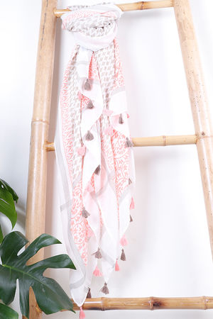 The Marrakesh Tassel Scarf Sunset