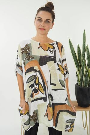 The Matisse Cheesecloth Top White