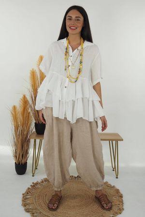The Mercer Christa Shirt White