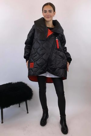 The Mercer Mega Cowl Coat Black
