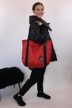 The Mercer Mega Tote Red