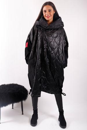 The Mercer Oversized Longline Coat Black