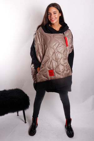 The Mercer Oversized Slouch Jacket Mushroom