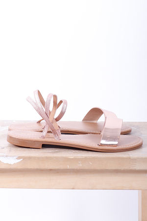 The Metallica Stretch Ankle Flats Rose